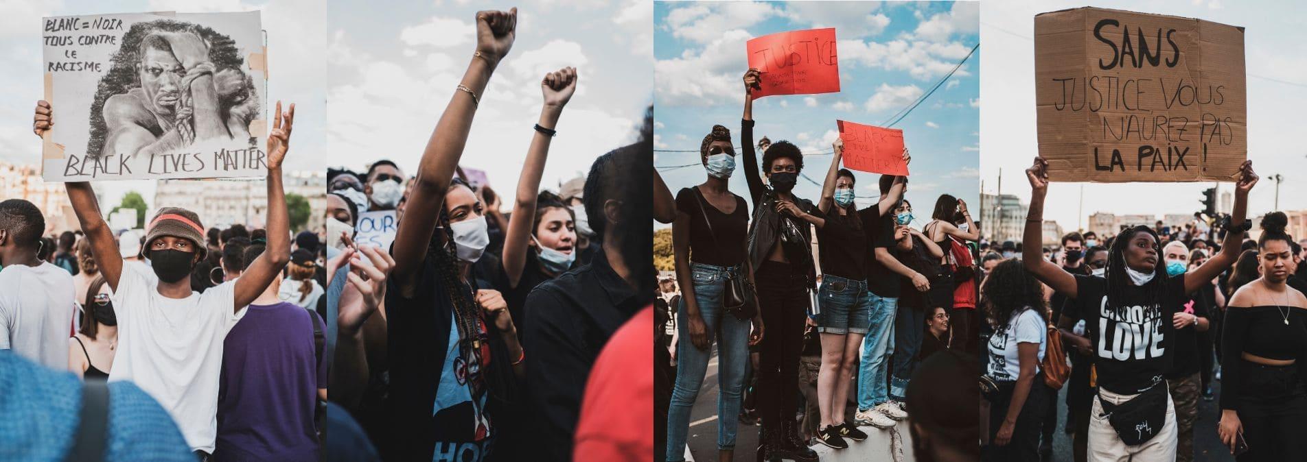 Manifestation contre les violences policières - Paris, Juin 2020 ©Lila Azeu